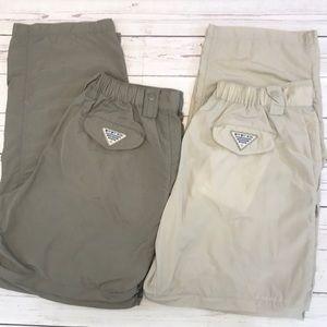 Two Columbia PFG Convertible pants size Medium
